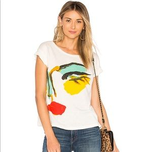 NWOT Junk Food Donald Robertson Face tee in Ivory